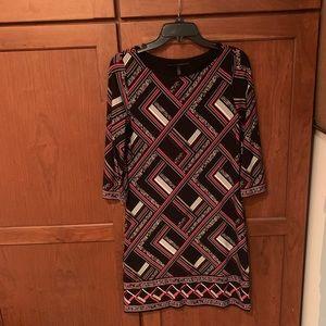 White House black market geometric dress